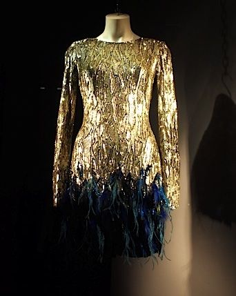 Matthew Williamson sequins and feathers.