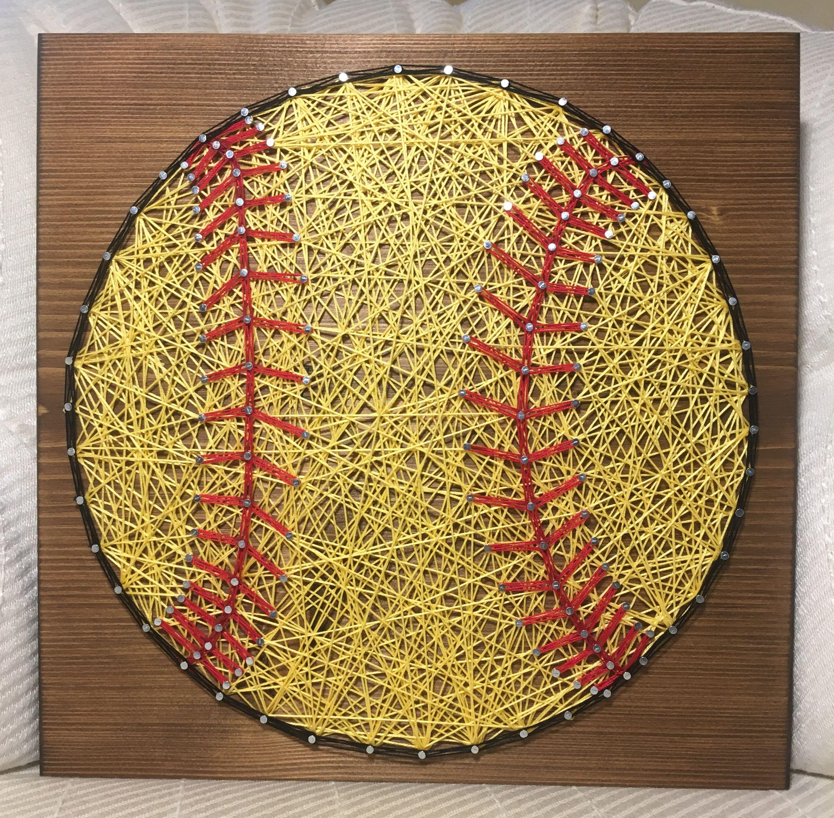 CUSTOM Sports Softball String Art Sign, Sports Art, Kids room, girl ...