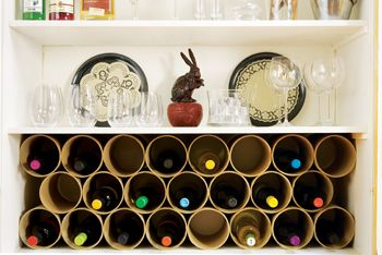 Throw in cool a wine rack