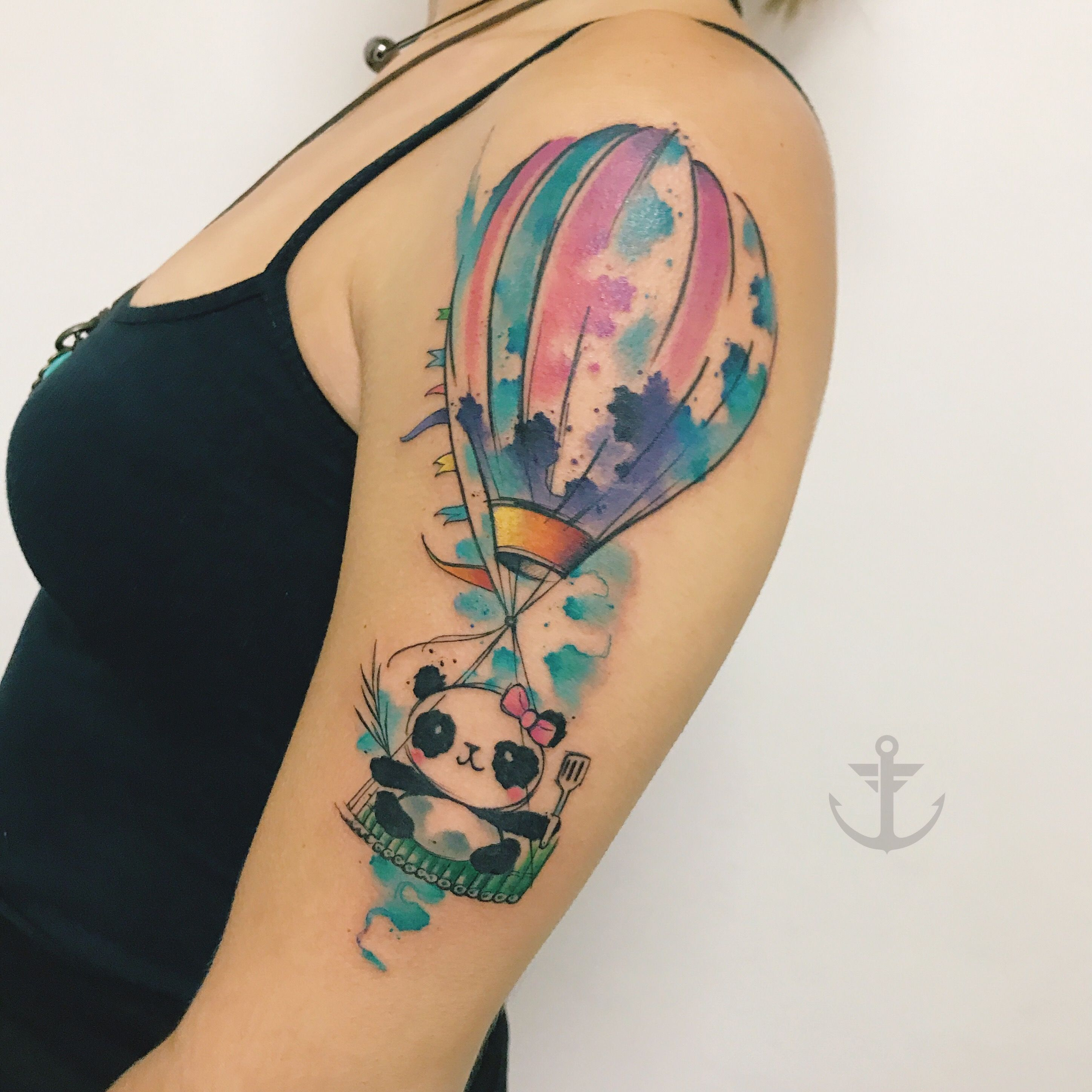 Watercolor Purple Balloon Tattoo Balloon Tattoo Tattoos Mini