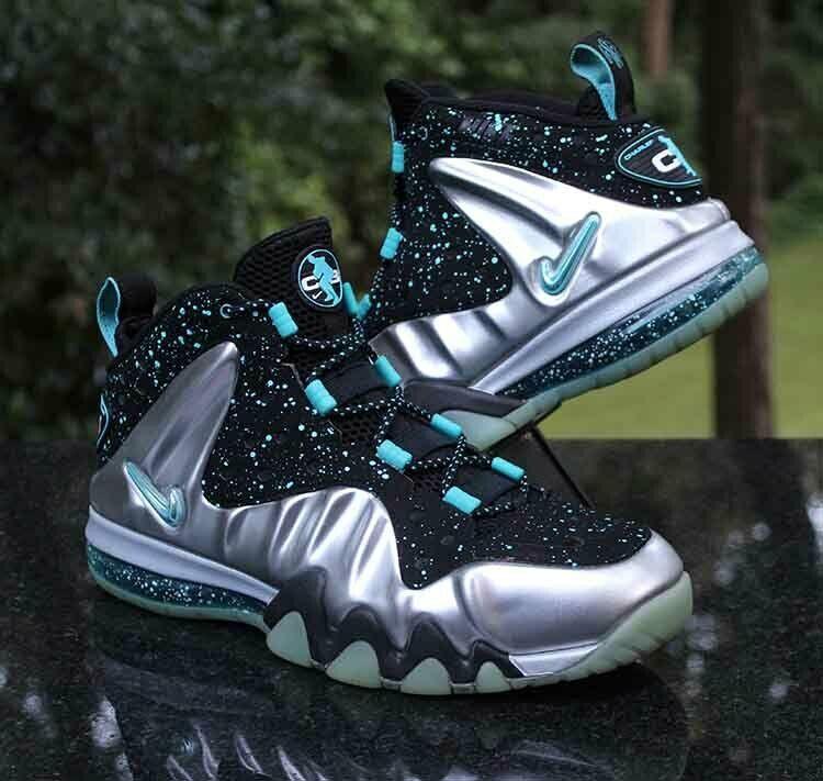 Nike Barkley Posite Max Splatter Men's Size 10 Metallic