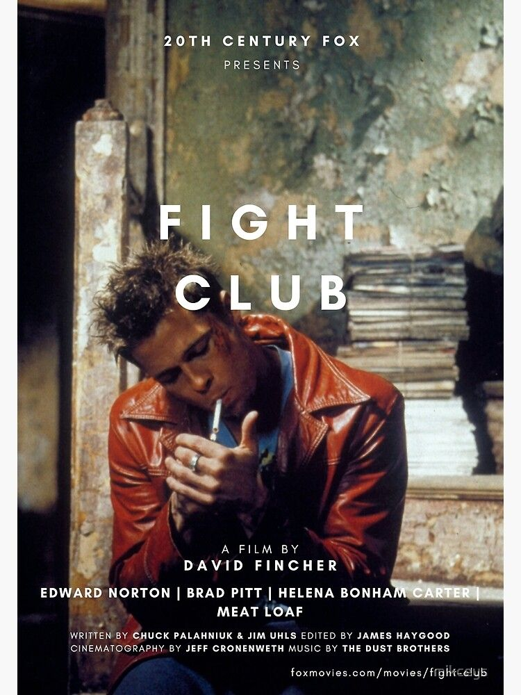 Fight Club Brad Pitt Poster Poster by mikceys