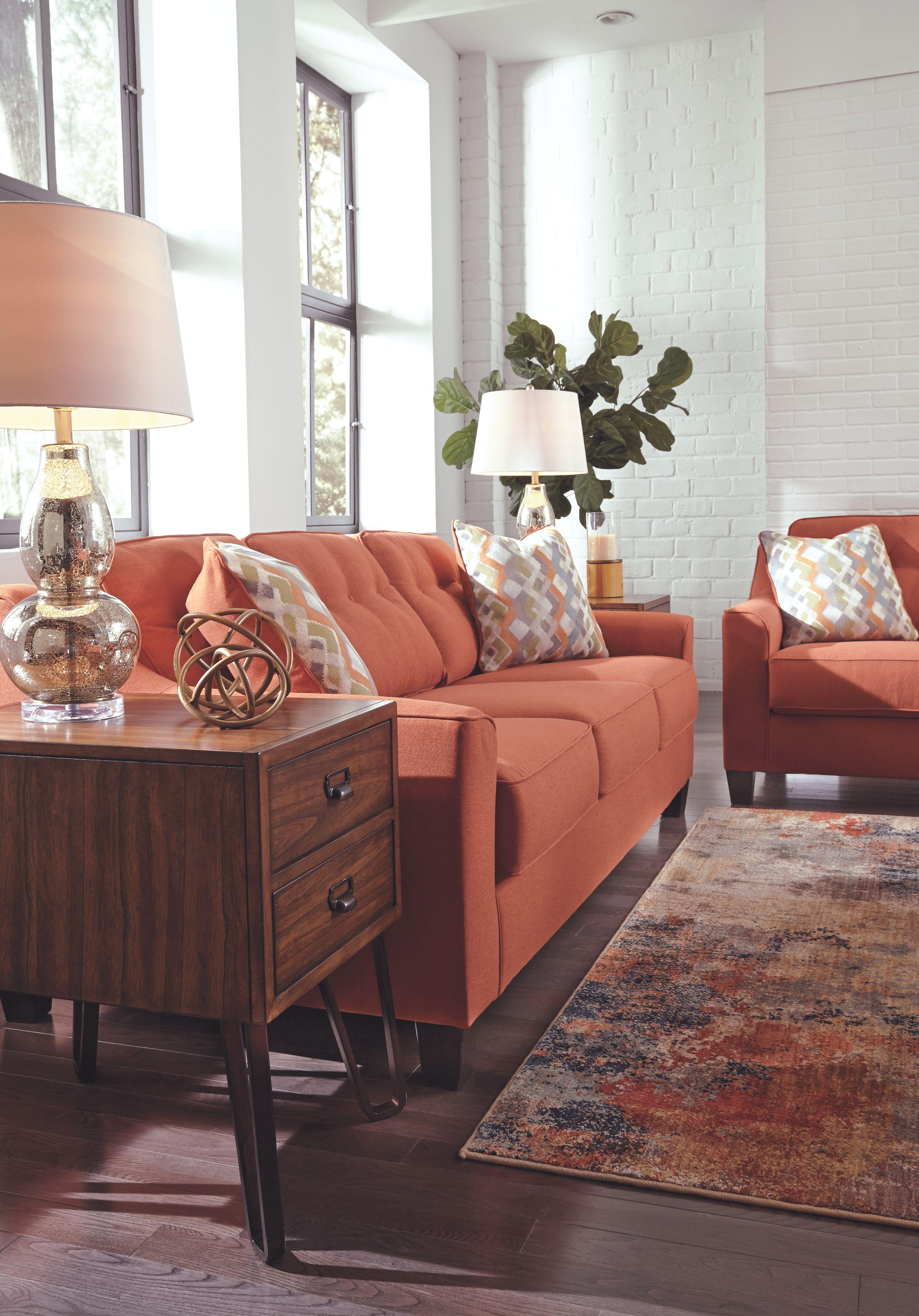 5b5f6d71523507598aaec17f69a8fb11 - Better Homes & Gardens Porter Fabric Tufted Futon Rust Orange