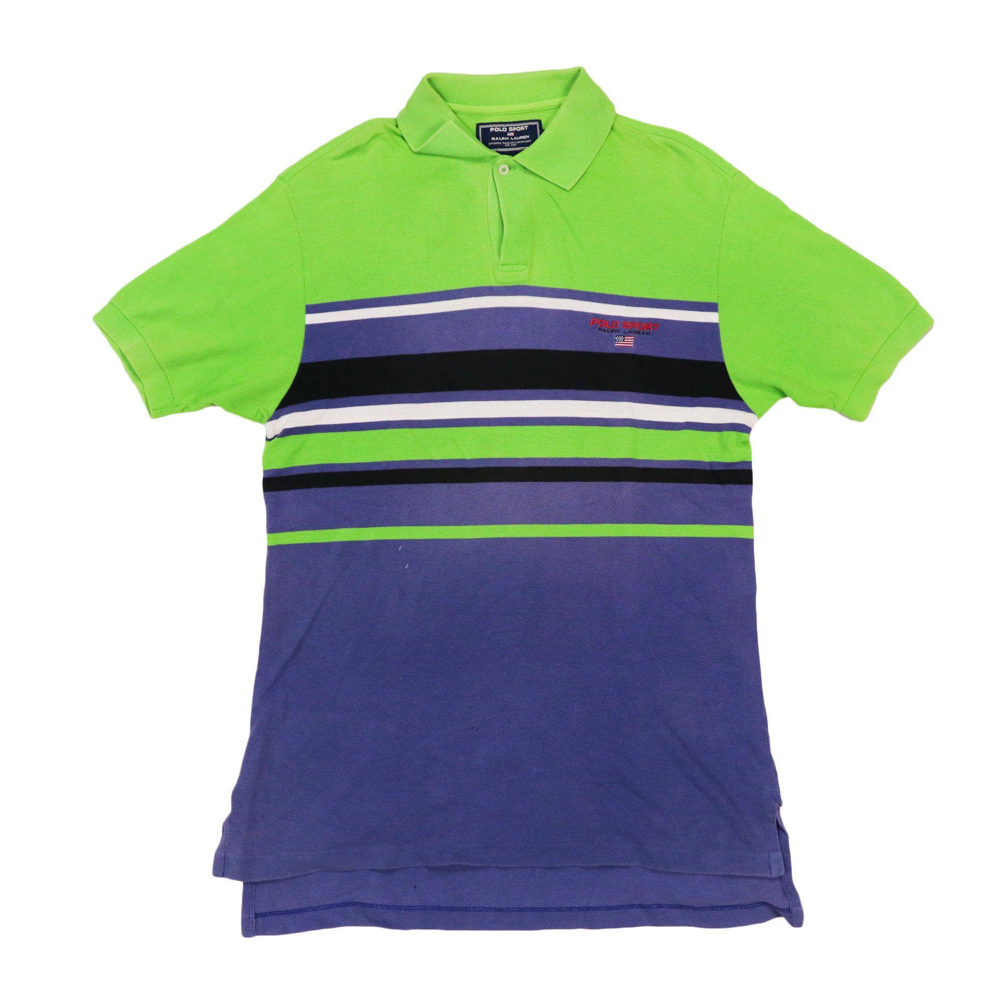 Vintage polo sport Striped Polos Shirt Size
