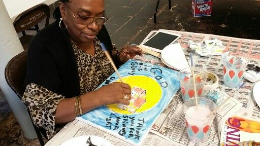 """Today was the second Thursday of """"Home is where the art is"""", an art outreach program sponsored by the Bo Bartlett center where we meet at a local shelter for the homeless and do some cööl art exercises. Seteria Dorsey"""