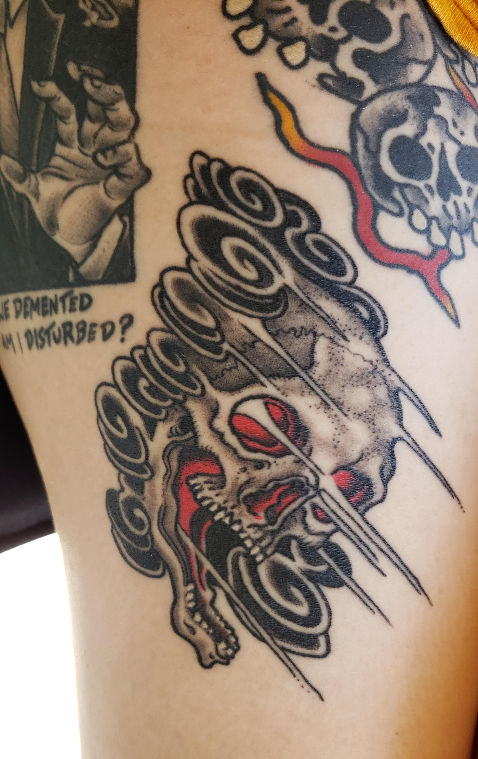 Smoke Skull by Timothy Hoyer guest-spotting at Eye Candy Tattoo New ...