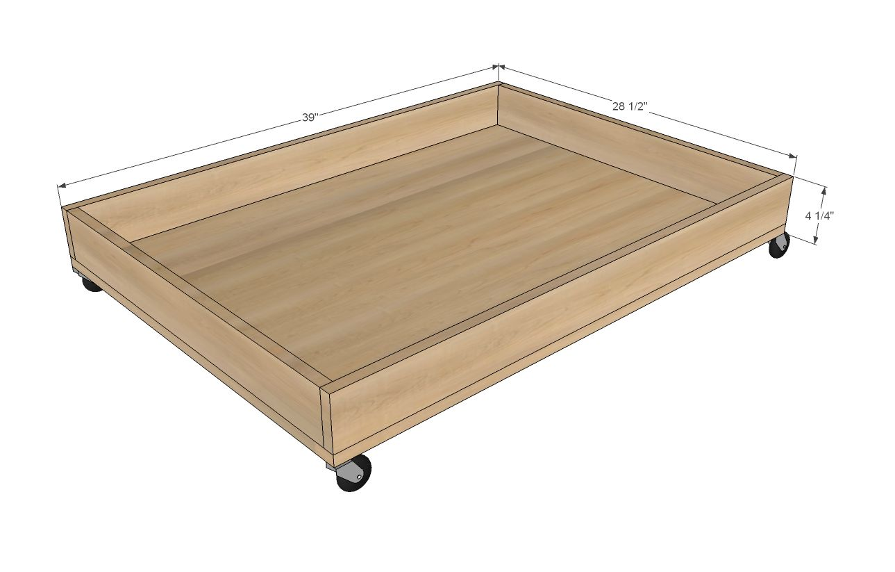 Boat Bed With Trundle And Toy Box Storage: Build A Train Trundle - PureBond Plywood