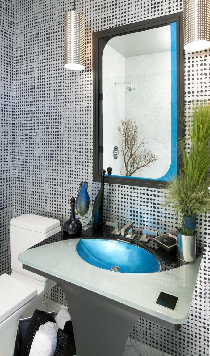 Dallas Industrial Chic Powder Room Design by RSVP Design Services ...