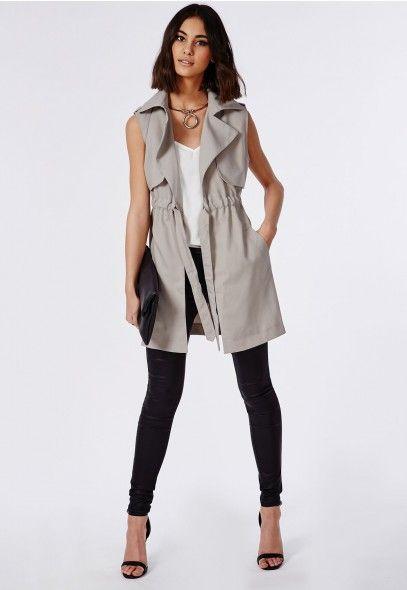 Women's Light Grey Trench Coat Stylish