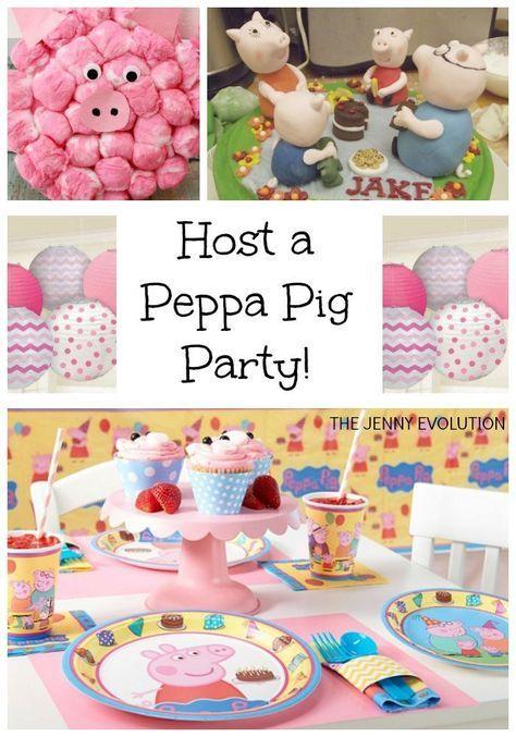 Peppa Pig Birthday Party Ideas Peppa Pig Birthday Party Peppa Pig Birthday Pig Birthday