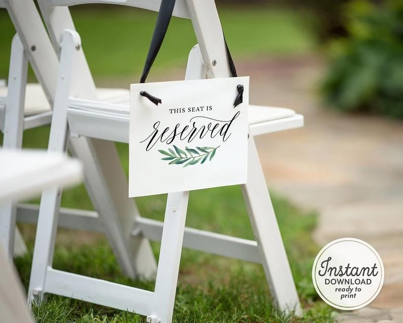 21+ Reserved wedding sign chairs ideas