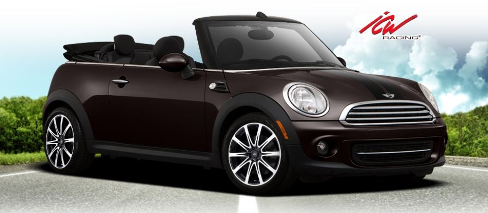 mini cooper convertible with 17 icw racing 209 euro wheels in black