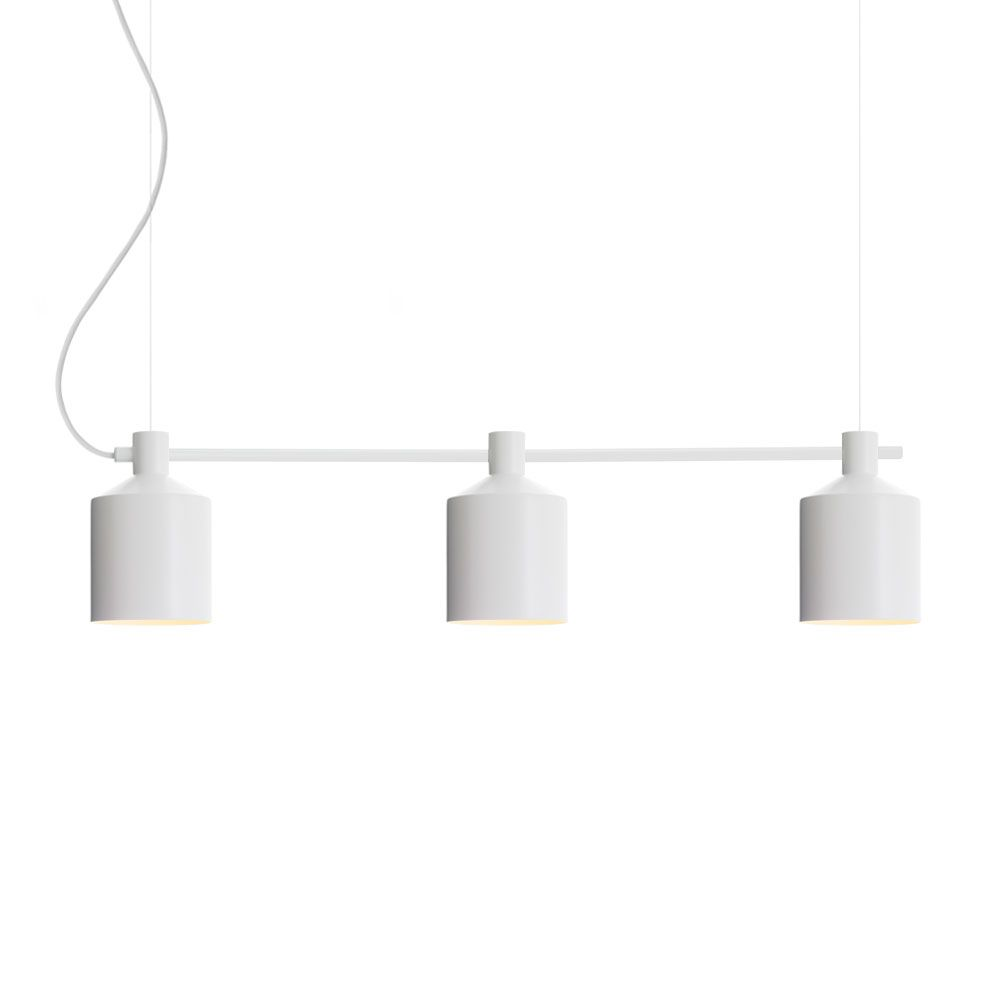 SILO Trio Pendant Light 15 cm White Note Design Studio Zero