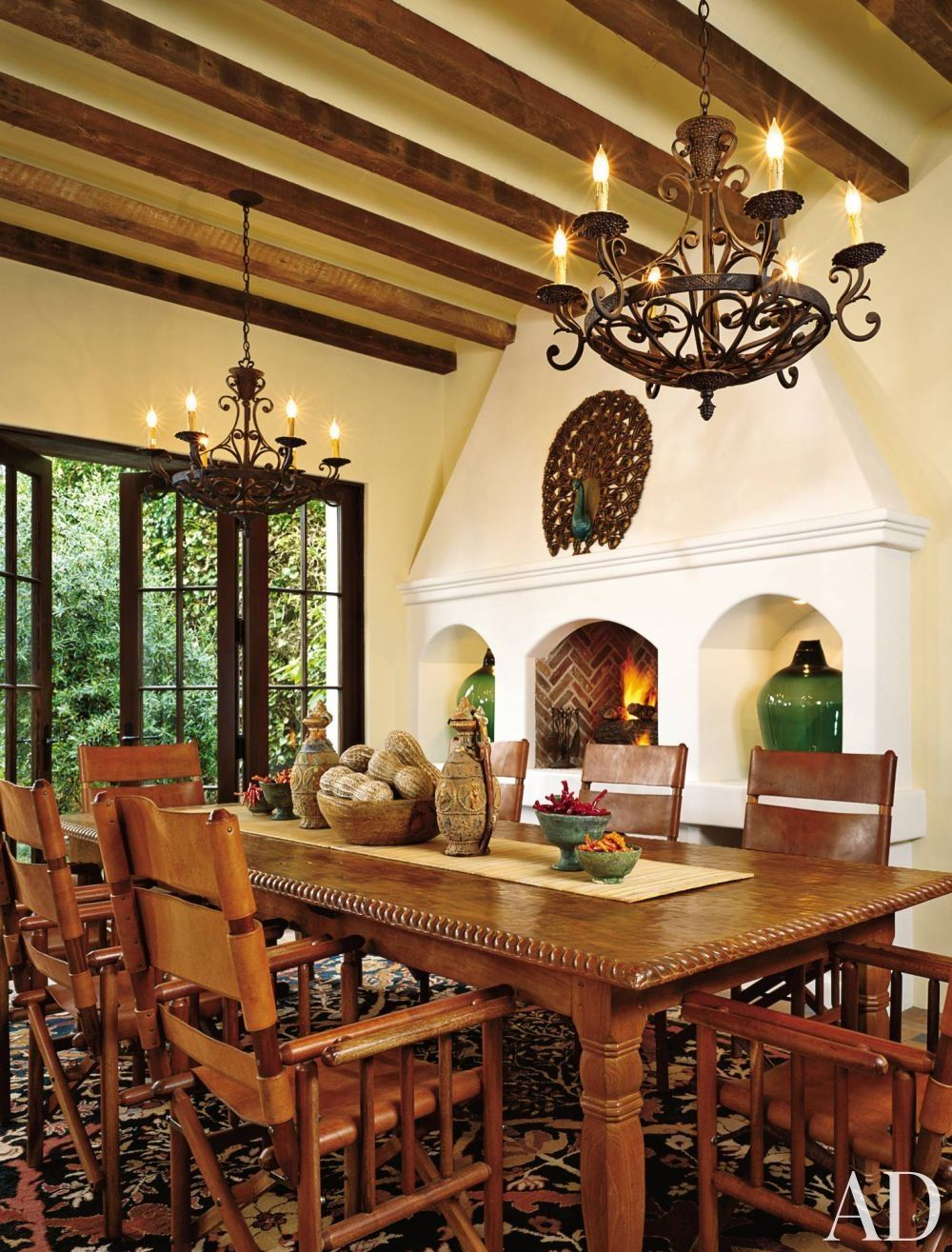 Traditional Dining Room by Lorna Auerbach Associates and ...