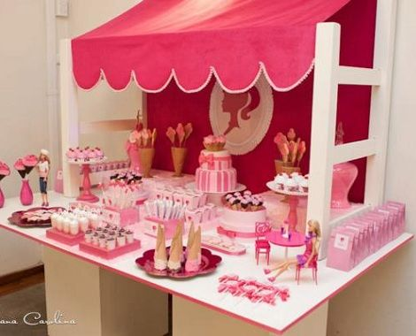 mesa de dulces barbie shop magnfico evento infantil organizado por mariana zago para celebrar el cuarto cumpleaos de una nia enamorada de la mueca