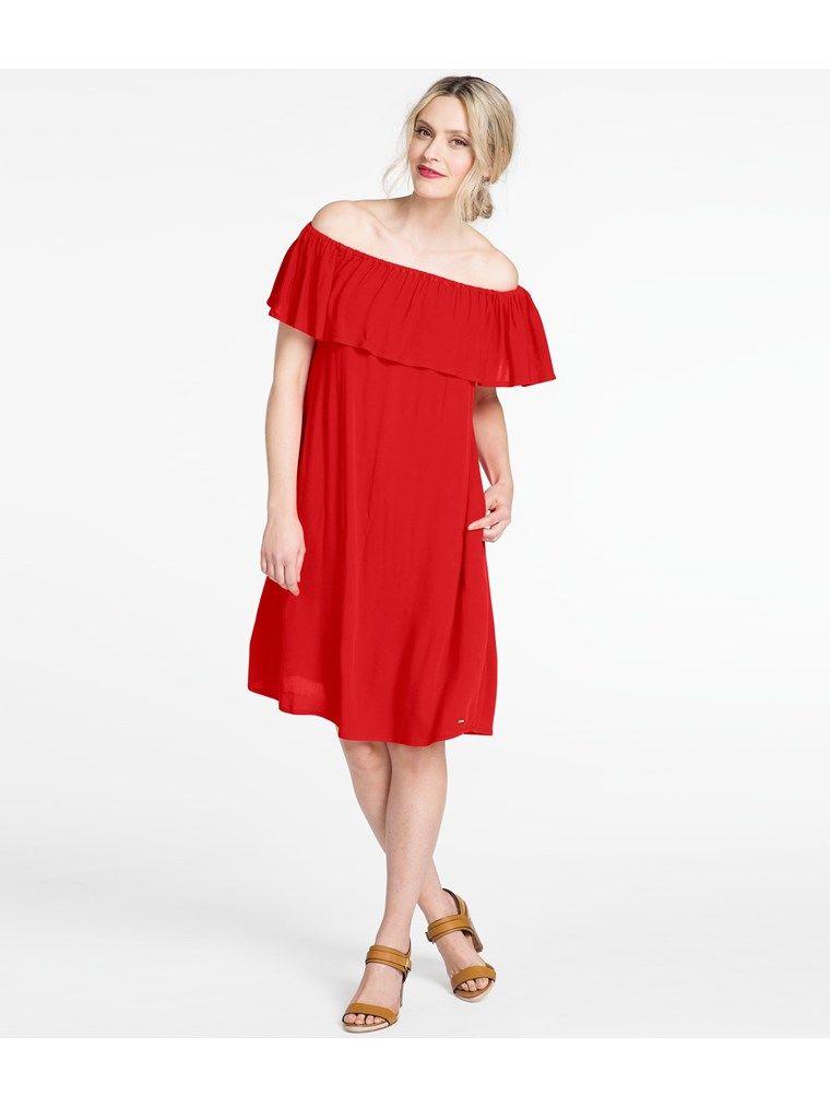 off shoulder klänning