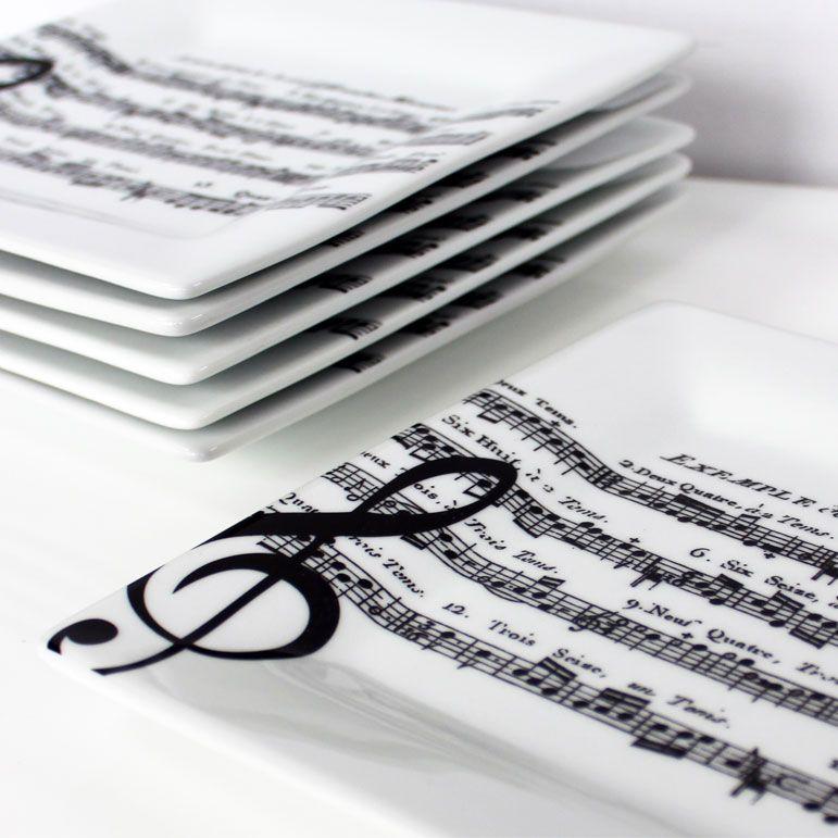 Adagio White: Set Of 6 Large Square Plates. £56.99