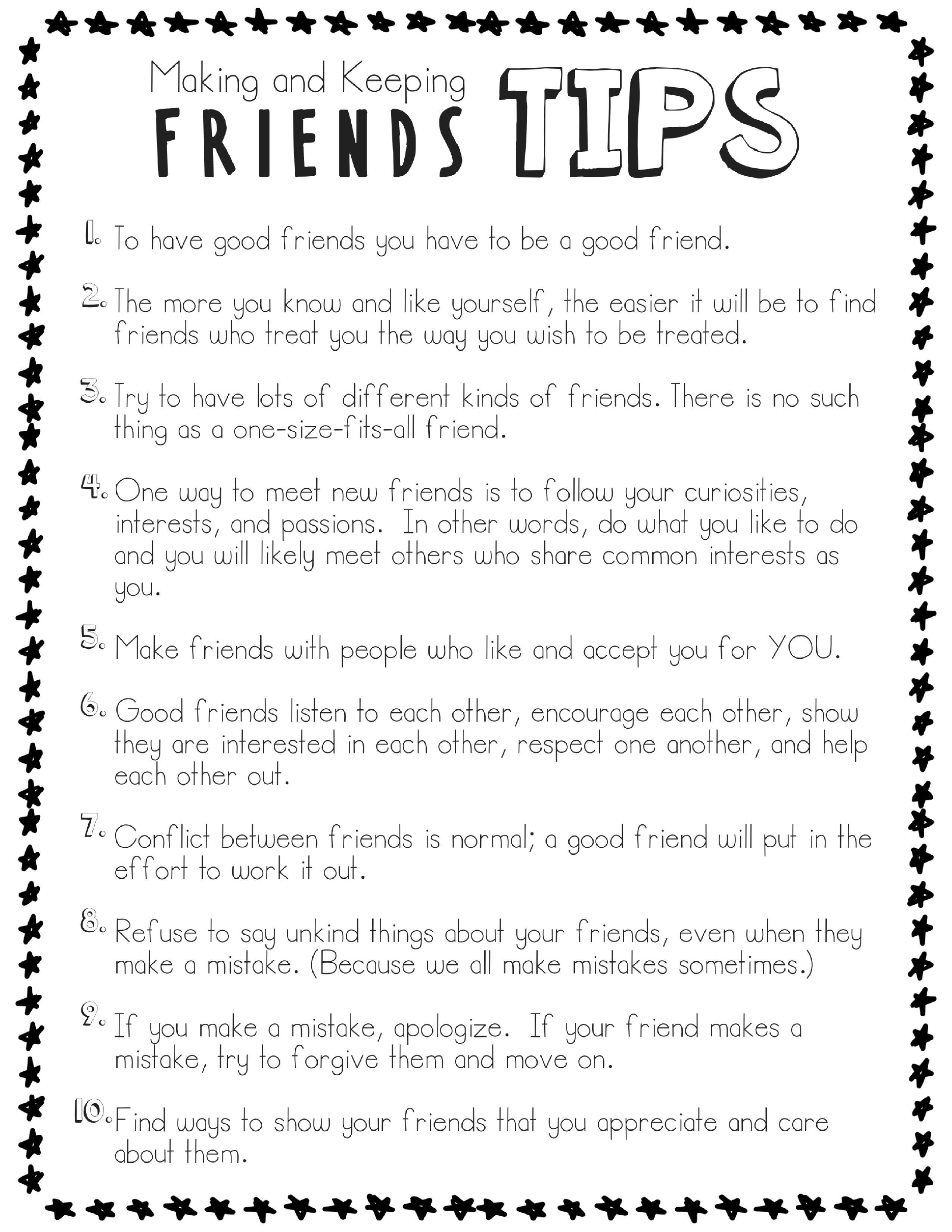 Keeping Friends Social Skills