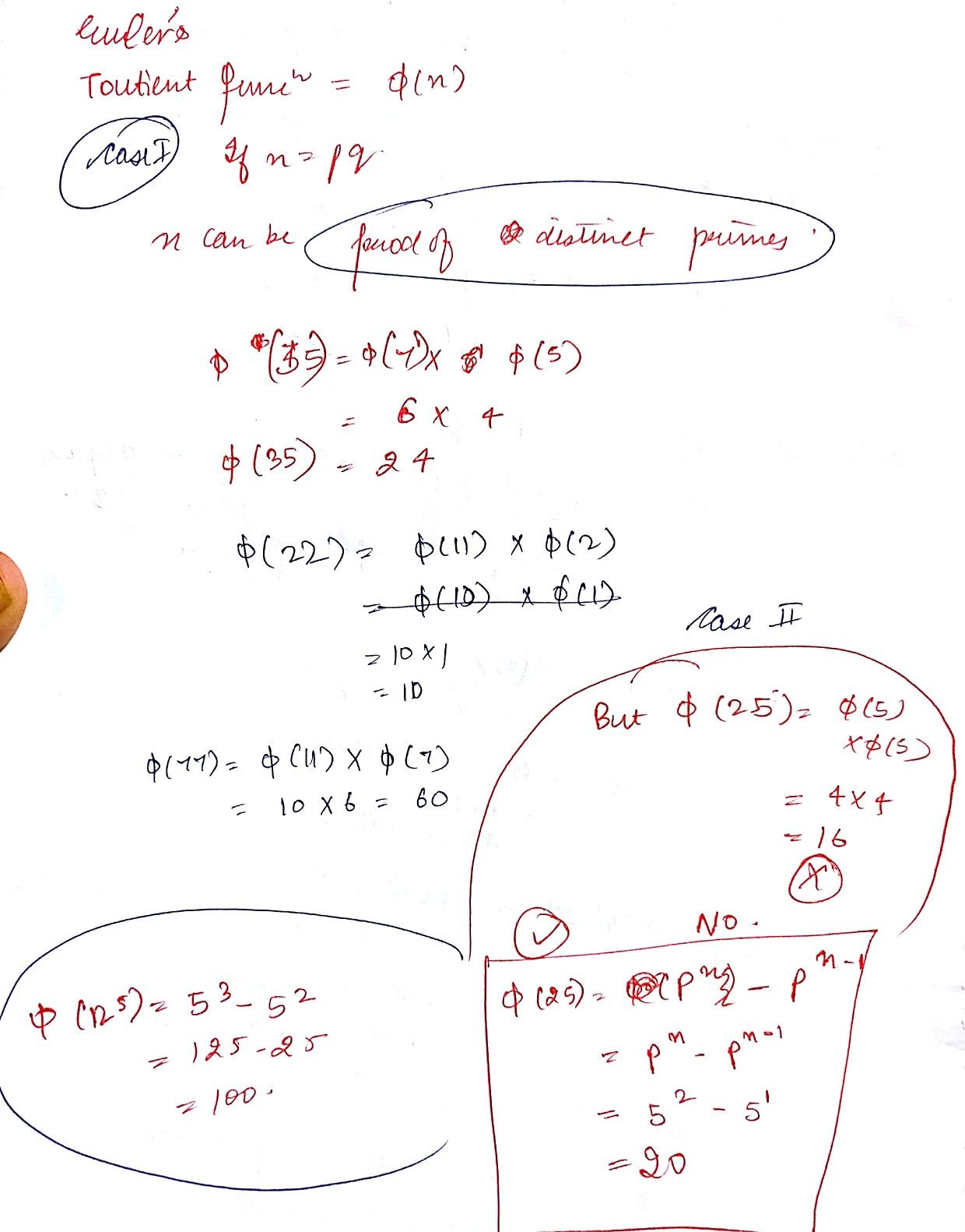 Finding Toutient Function