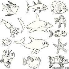 Worksheet.    dibujos de animales acuaticos para imprimir y