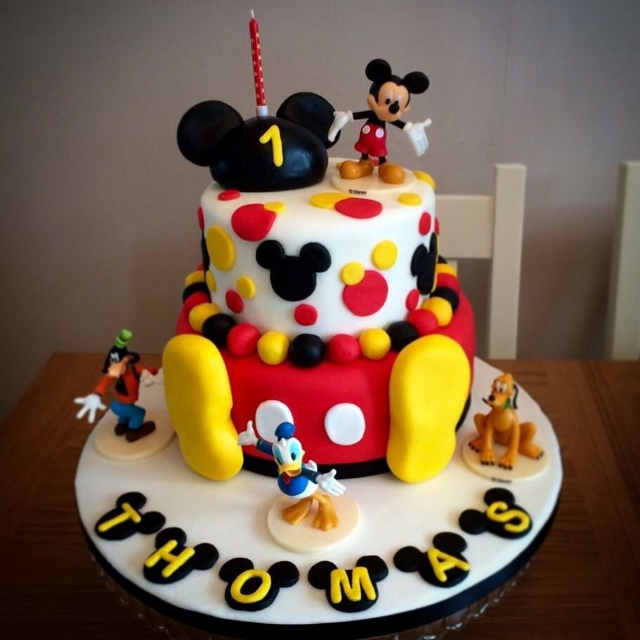 Mickey Mouse 1st Birthday Cakes Mickey Mouse Cake I Made For My Sons 1st Birthday Birthdays In Mickey Mouse Birthday Cake Mickey Birthday Cakes 1st Birthday Cakes