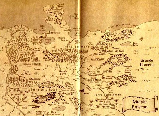 Cartina Mondo Emerso.Mappa Del Mondo Emerso Di Licia Troisi Poster