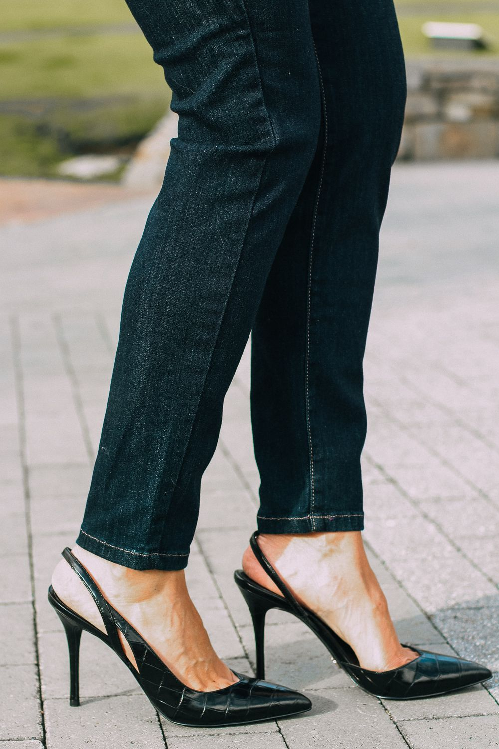 Best jeans for curves パンプス ズボン