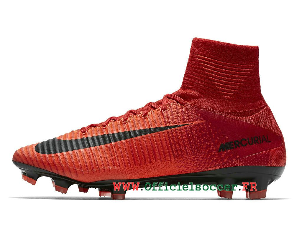 reputable site 36f44 55aae Nike Mercurial Superfly V FG 2018 Chaussure de football à crampons pour  terrain sec Homme Rouge