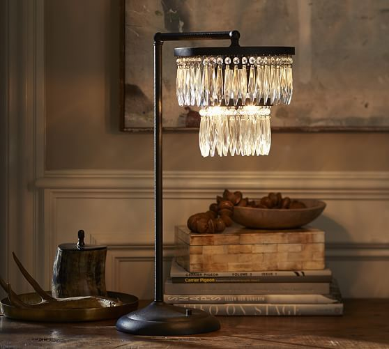 Adele Crystal Ambient Lamp Pottery Barn Table Lamp Lighting Lamp