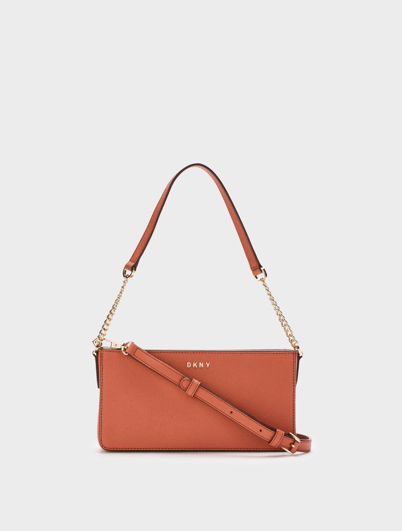 DKNY Small Chain Crossbody. #dkny #bags #crossbody #leather #lining #shoulder bags #hand bags #cotton #