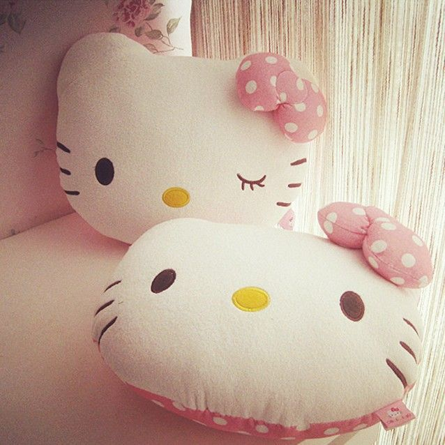 Hello kitty cat cushion pillows decorate for sofa bed cartoon home decor decorative pillows for - Hacer cojines sofa ...
