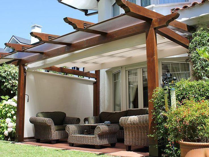 Pergolas de madera y policarbonato buscar con google for Disenos de terrazas de madera