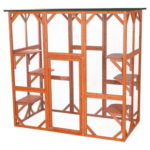 Trixie Pet Products Wooden Outdoor Cat Sanctuary Target
