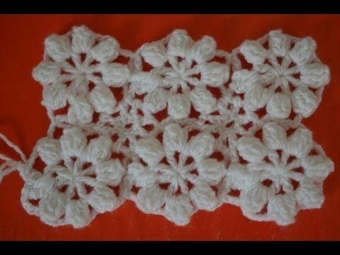 Como Tejer El Punto Flor Al Crochet Paso A Paso En Video Crochet