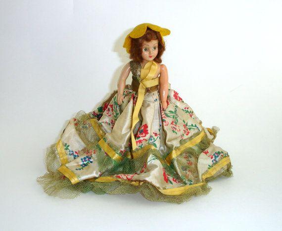 plastic bell doll in vintage