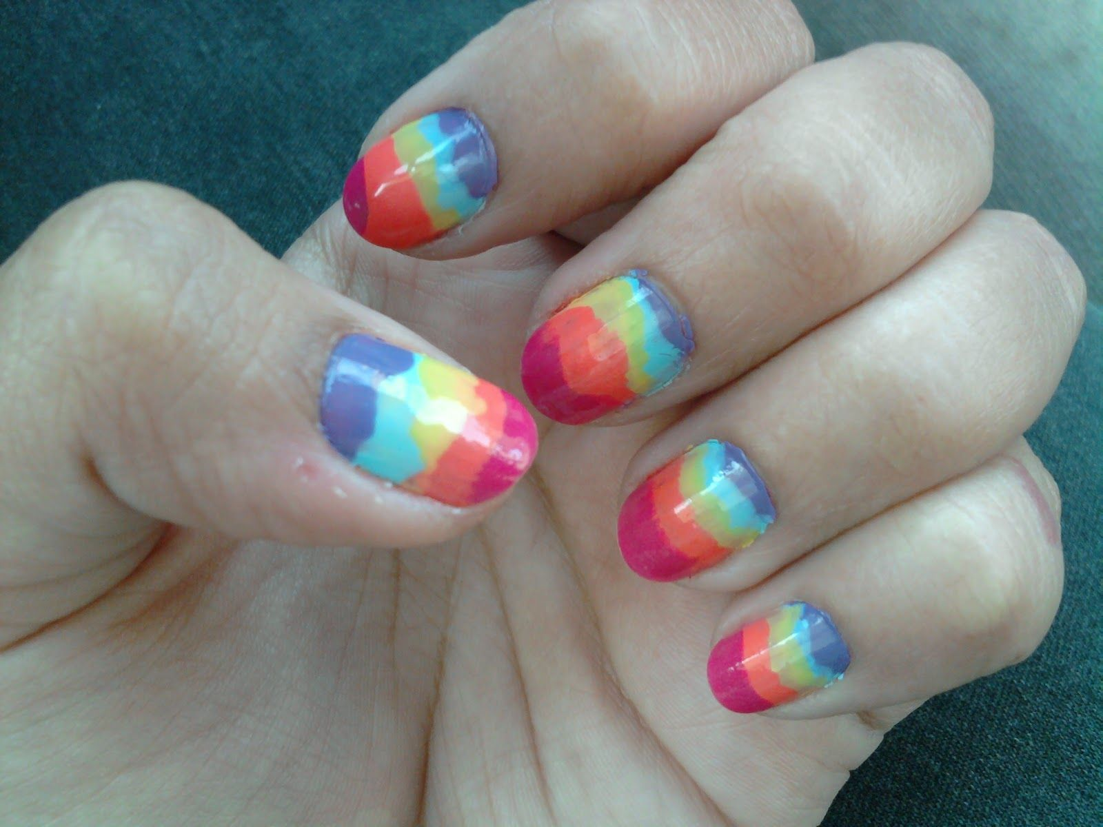 Cute Nail Designs | Cute Rainbow Nail Art Design | Women Fashion and ...