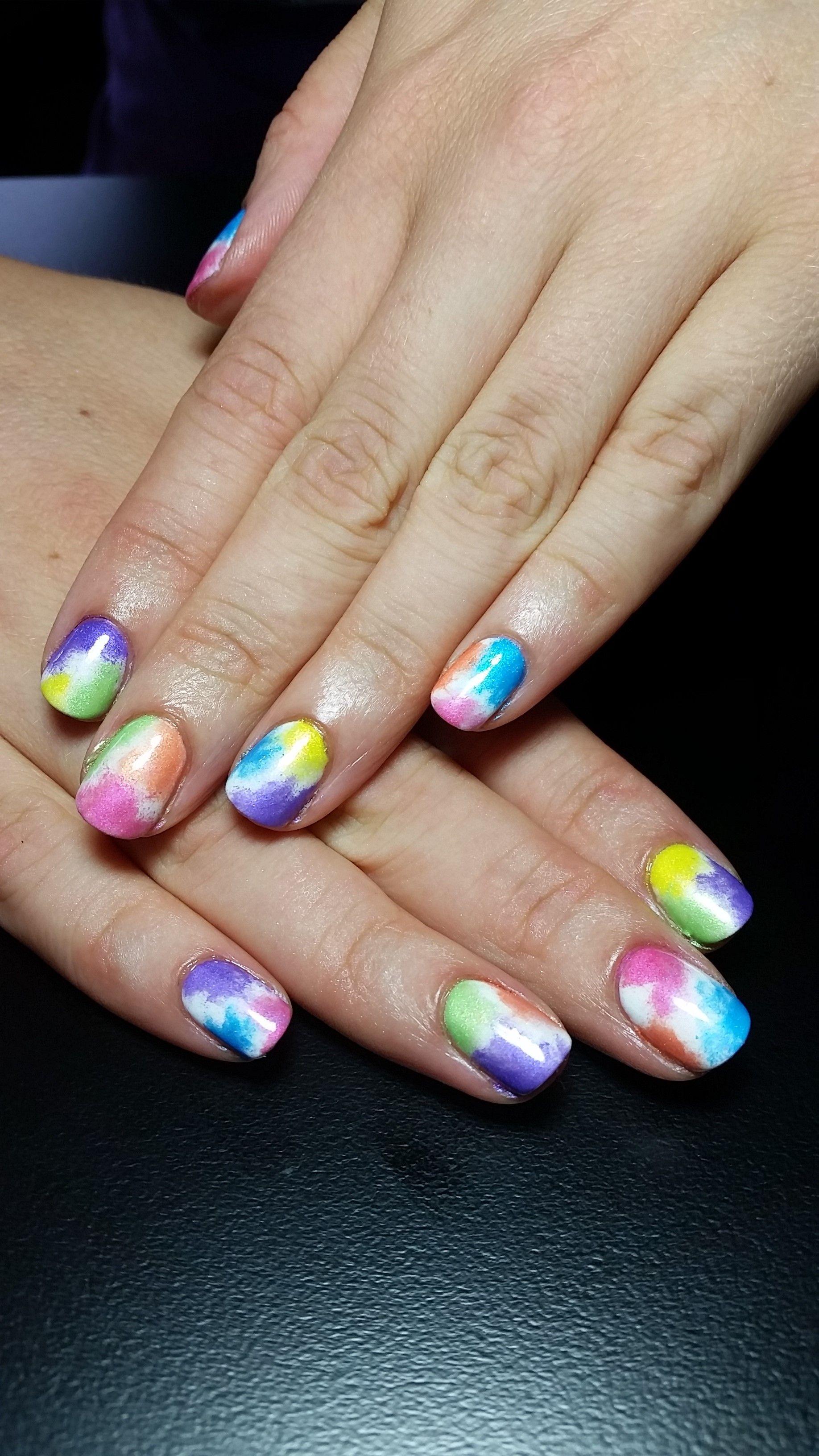 Colour run themed nails colourrun auckland