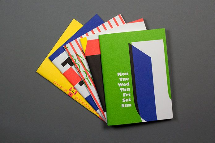 Typographic Notebook Collection by MAGMA Brand Design, printed with special colors on fine paper.
