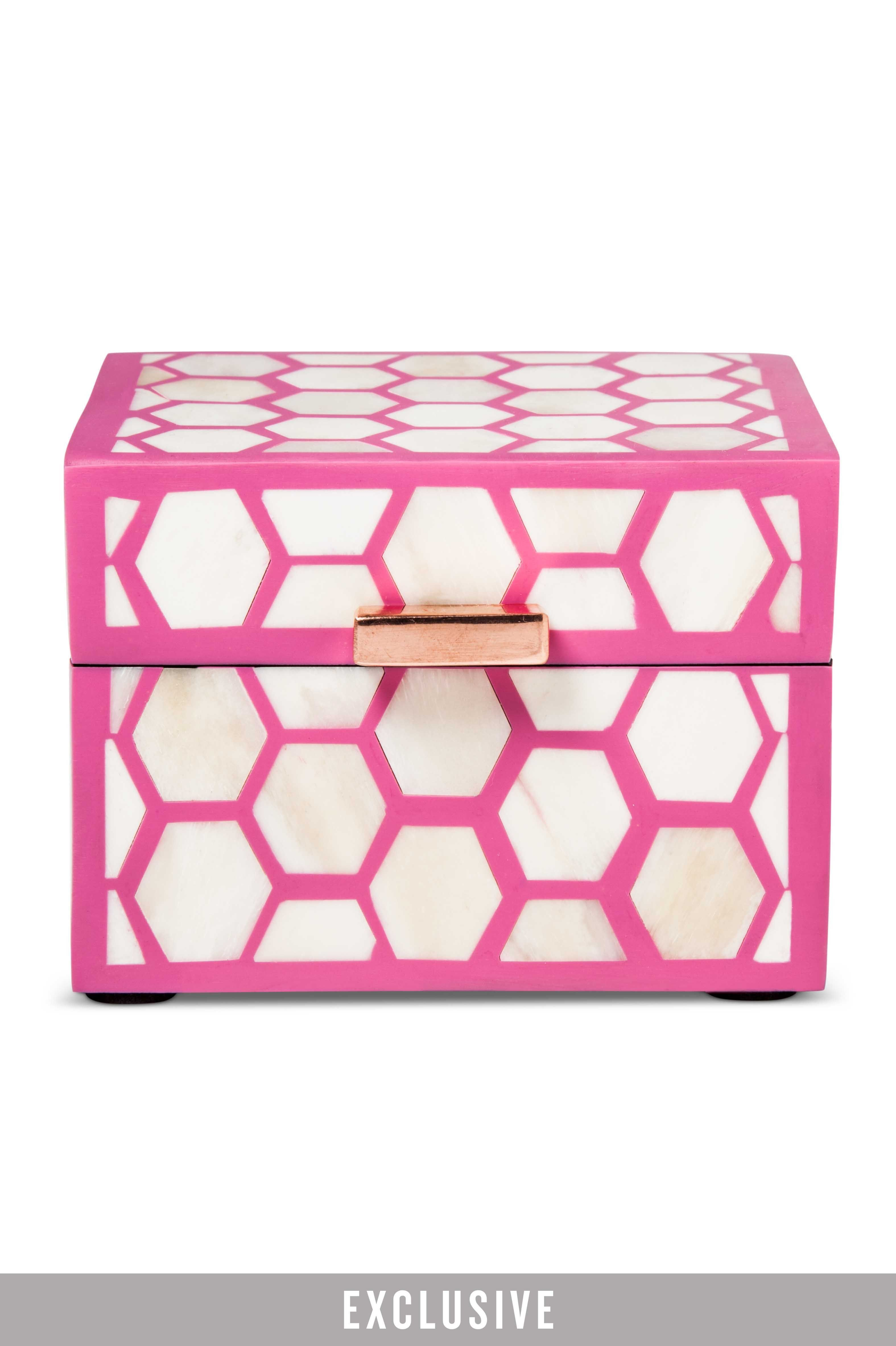 *Exclusive Hot Pink Inlaid Decorative Box
