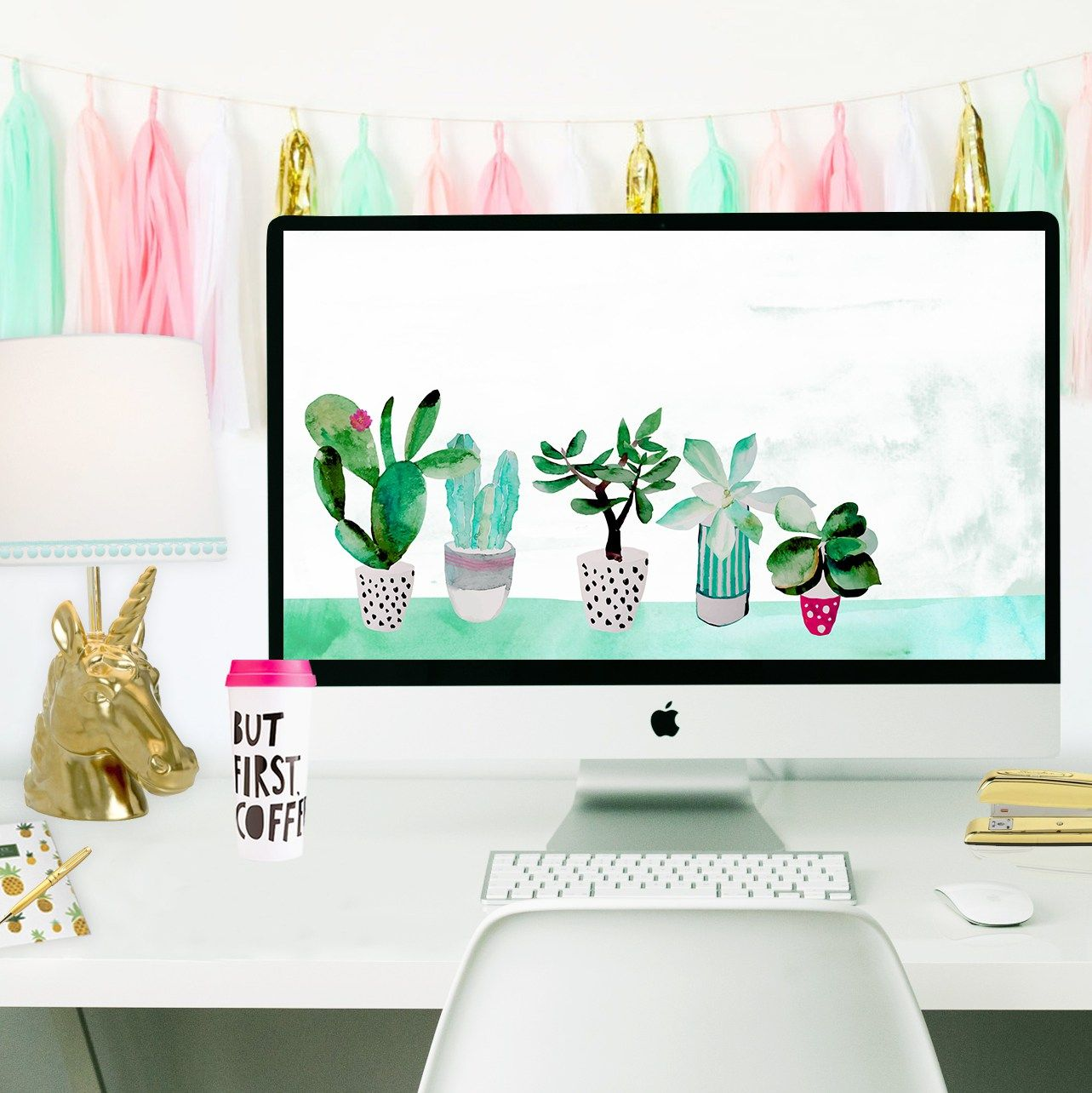 Free Succulent Desktop Wallpaper To Pretty Up Your Desk Space Desktop Wallpaper Calendar Macbook Desktop Desktop Wallpaper