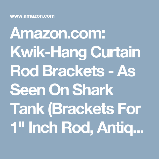 Amazon.com: Kwik-Hang Curtain Rod Brackets