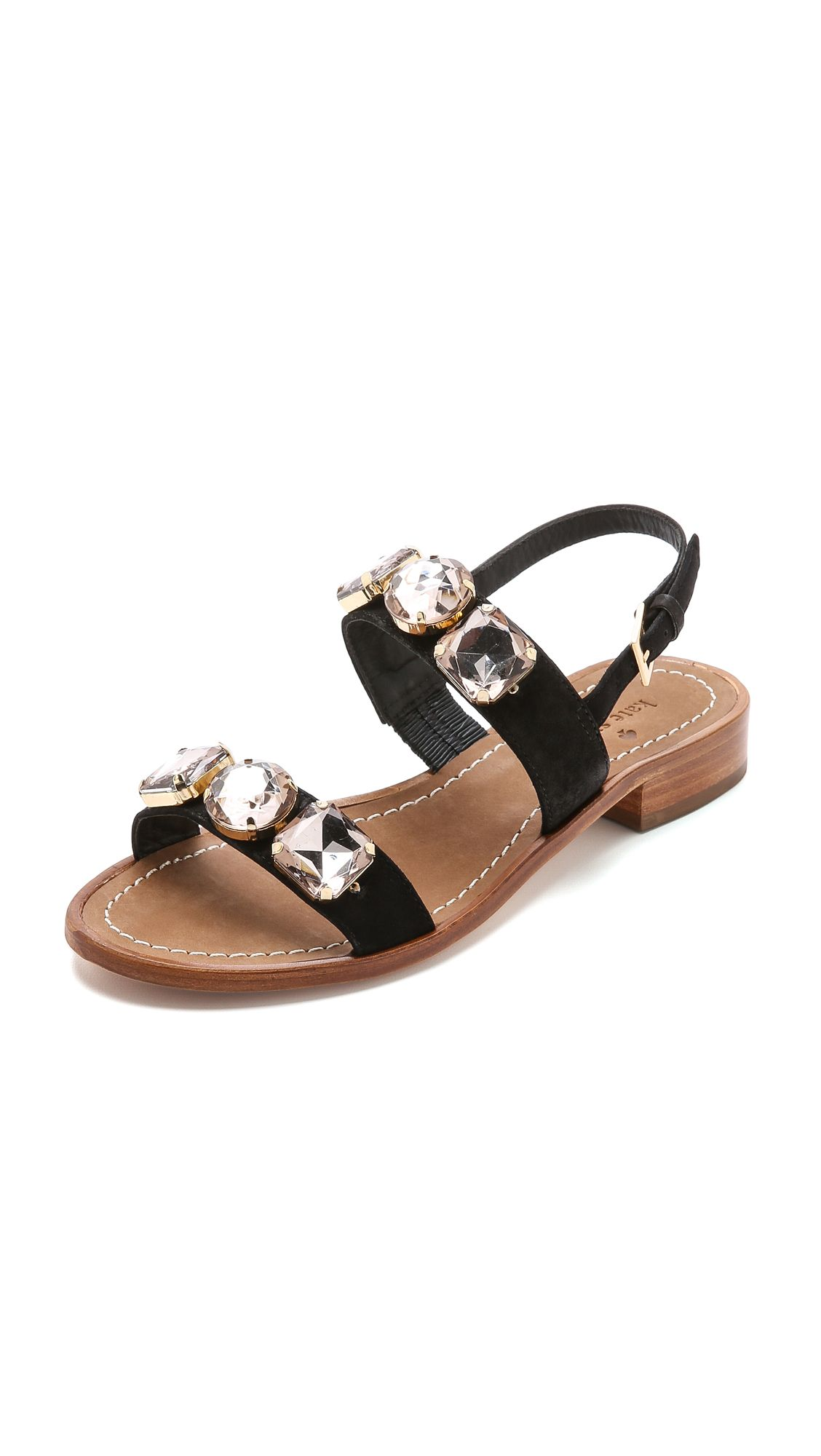 buy cheap nicekicks real for sale Kate Spade New York Patent Leather Flat Sandals very cheap sale online j8UBu1