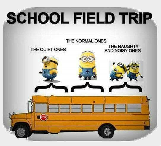 School Bus Fieldtrip With Images Minions Funny Funny Minion