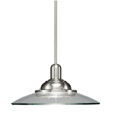 Allen roth 18 12 in brushed nickel pendant light with clear shade allen roth 18 12 in brushed nickel pendant light with clear shade aloadofball Images