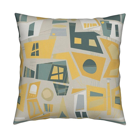 Mid Century Modern Windows Throw Pillow Windowscw By Wrenleyland