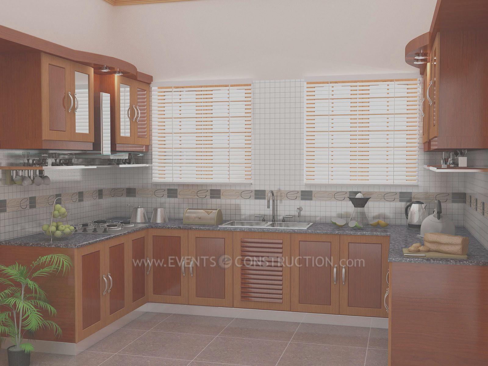 Evens Construction Pvt Ltd Simple Kerala kitchen design   Kitchen ...
