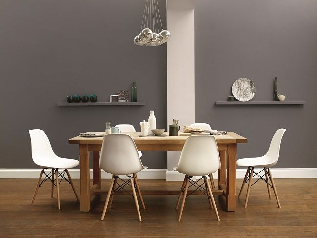 grey room decorating ideas, dulux monument grey dining room ...