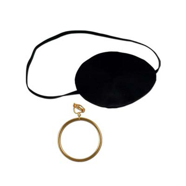 Finish Off Your Pirate Themed Costume With Our Pirate Eye Patch With Plastic Earring This Set Includes Pirate Eye Patches Plastic Earrings Pirate Accessories