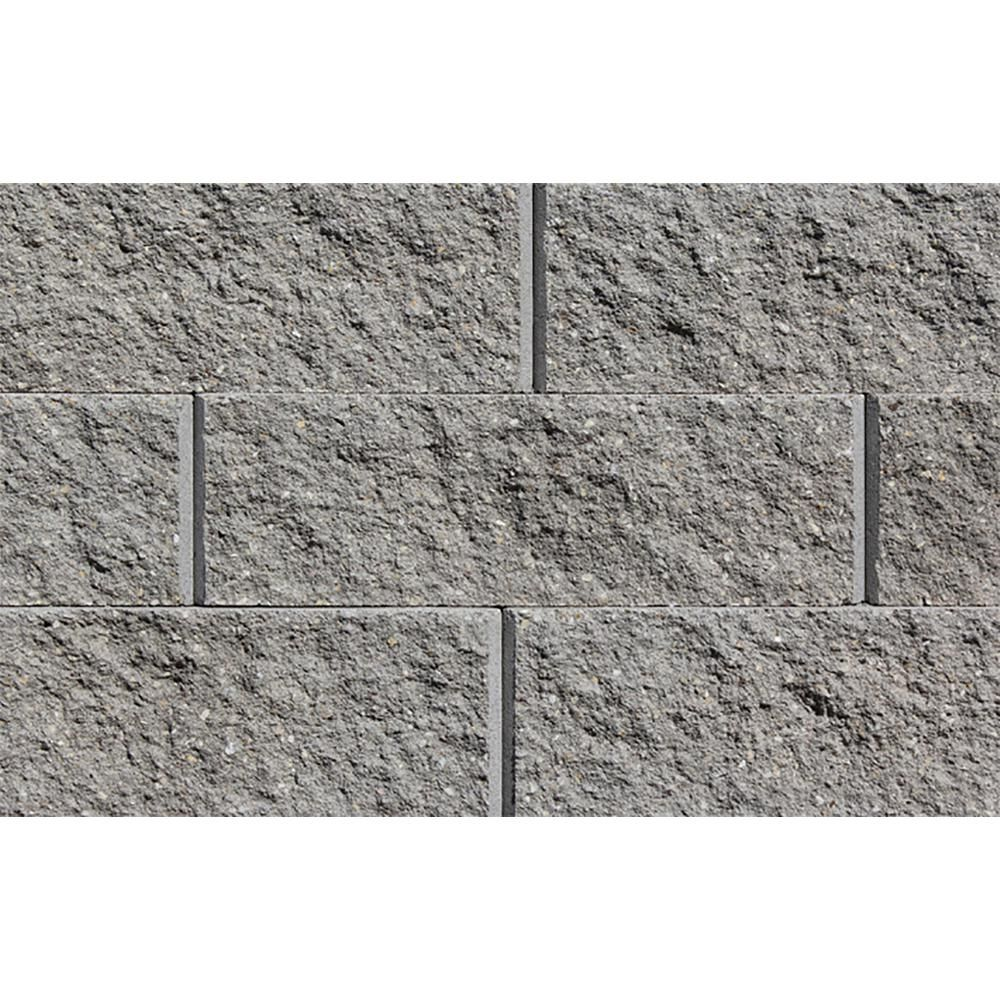 Rockwood Retaining Walls Sapphire 6 In H X 17 25 In W X 12 In D Gray Concrete Retaining Wall Block 45 Pieces 33 75 Sq Ft Pallet 4010145 The Home Depot In 2020 Concrete Retaining