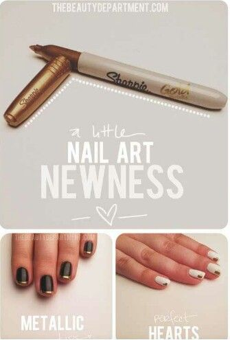 Use Metallic Sharpie For French Tips Wow I Should Have Thought Of